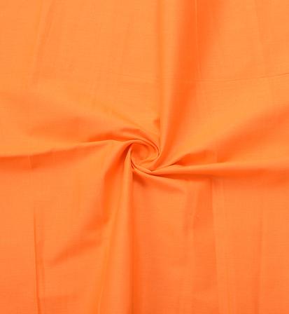 Orange Plain Cotton Slub Handloom Fabric-40212