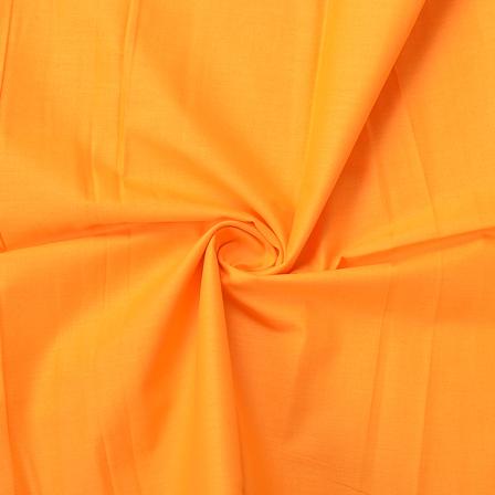 Orange Plain Cotton Slub Handloom Fabric-40214