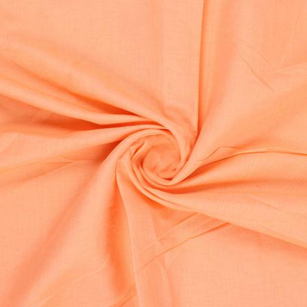 Orange Plain Handloom Khadi Cotton Fabric-40432