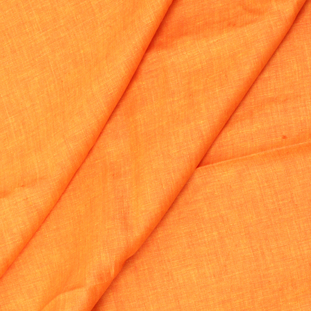 Linen Shirt (1.6 Meter) Fabric- Orange Plain Indian-90042