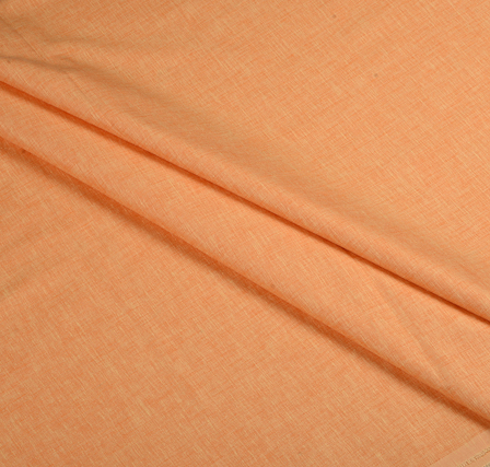 Orange Plain Indian Cotton Linen Shirt Fabric-90064