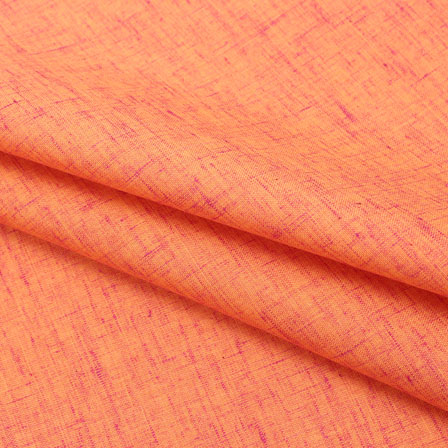 Orange Plain Linen Cotton Fabric-40627