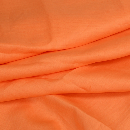 Orange Plain Linen Fabric-90007