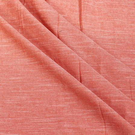 Orange Plain Slub Samray Handloom Khadi Fabric-40018