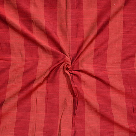 Orange Stripes Print South Cotton Fabric-15239