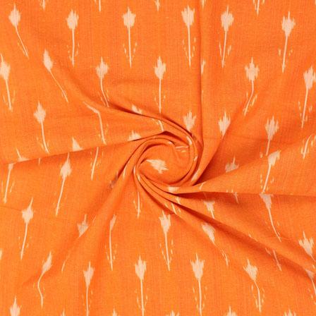 Orange White Ikat Cotton Fabric-12308