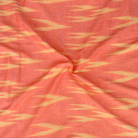 Orange Yellow ikat two tone Rayon Fabric-15176