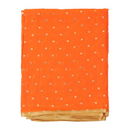 Orange and Golden Chiffon Fabric-29103