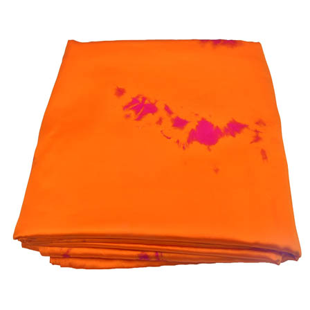 Orange and Purple Batik Satin Fabric-32032