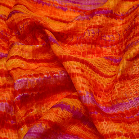 Orange and purple tie dye fabric-4940