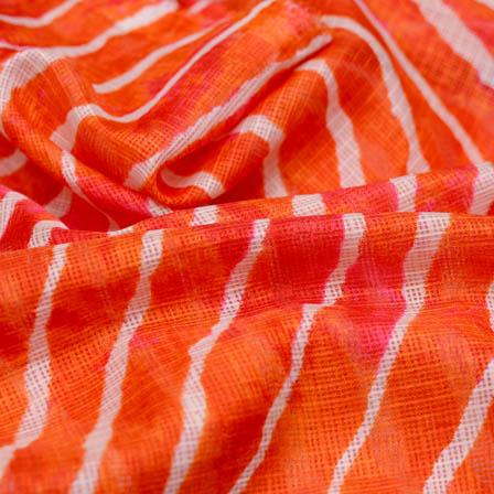 Orange leharia kota doria fabric-4916