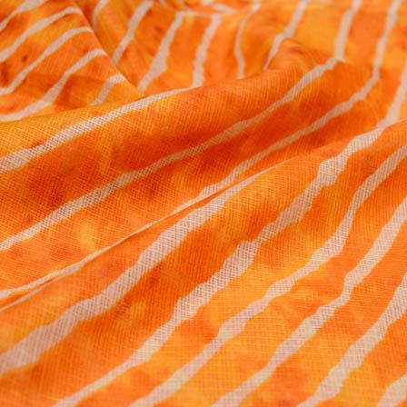 Orange leharia kota doria fabric-4927