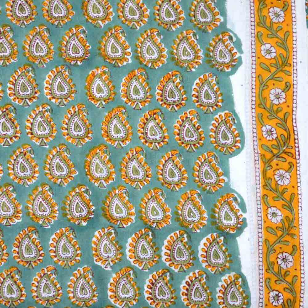 Buy paisley block printed indian cotton fabric for Printed cotton fabric