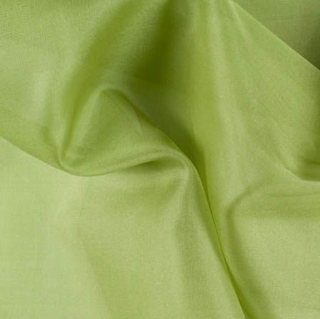 Parrot Green Plain Organza Silk Fabric-51798