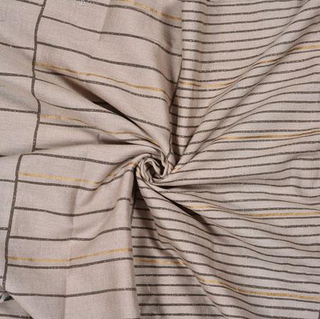 Peach Brown Polka Cotton Flex Foil Fabric-28385