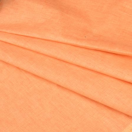 Khadi Shirt (2.25 Meter) Fabric-Peach Handloom Cotton -140386