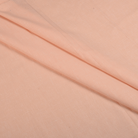 Peach Cotton Linen Shirt Fabric-90058