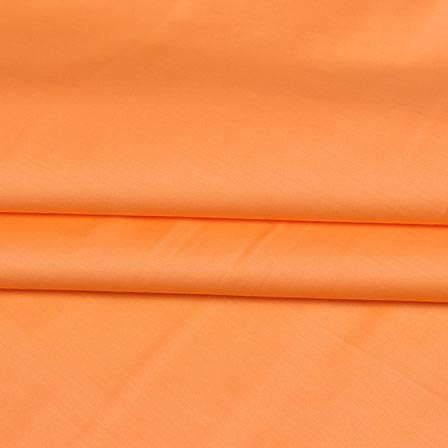 Peach Plain Cotton Silk Fabric-16450