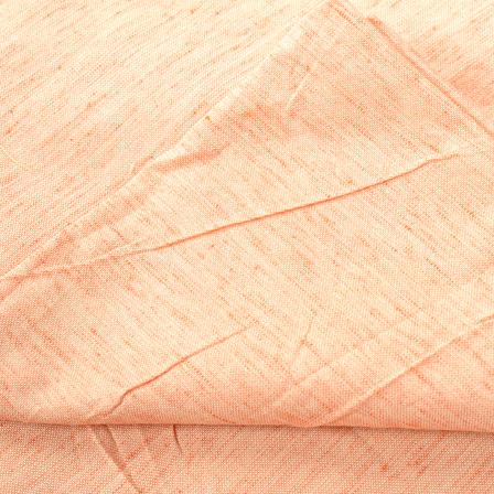 Peach Plain Two Ton Linen Fabric-40221
