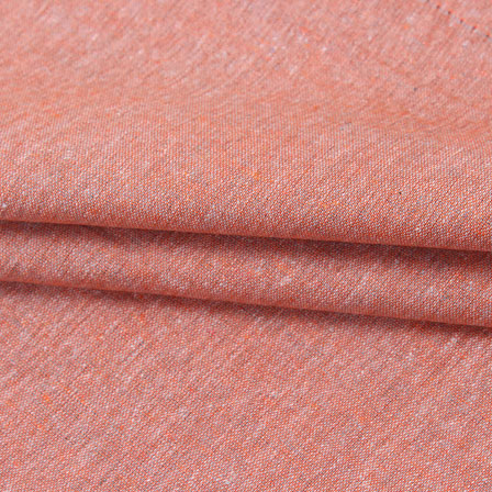 Peach Plain Linen Cotton Fabric-40629