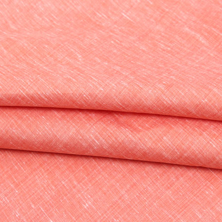 Peach Plain Linen Cotton Fabric-40637