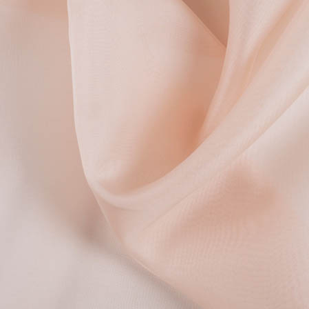 Peach Plain Organza Silk Fabric-51777