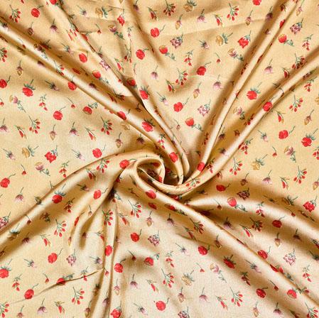 Peach Red Digital Flower Print Georgette Fabric-41202
