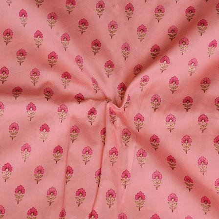 Pink Floral Print Jam Cotton Fabric-15219