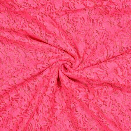 Pink Flower Net Fabric-18988