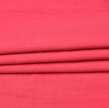 Pink Plain Handloom Cotton Fabric-41025