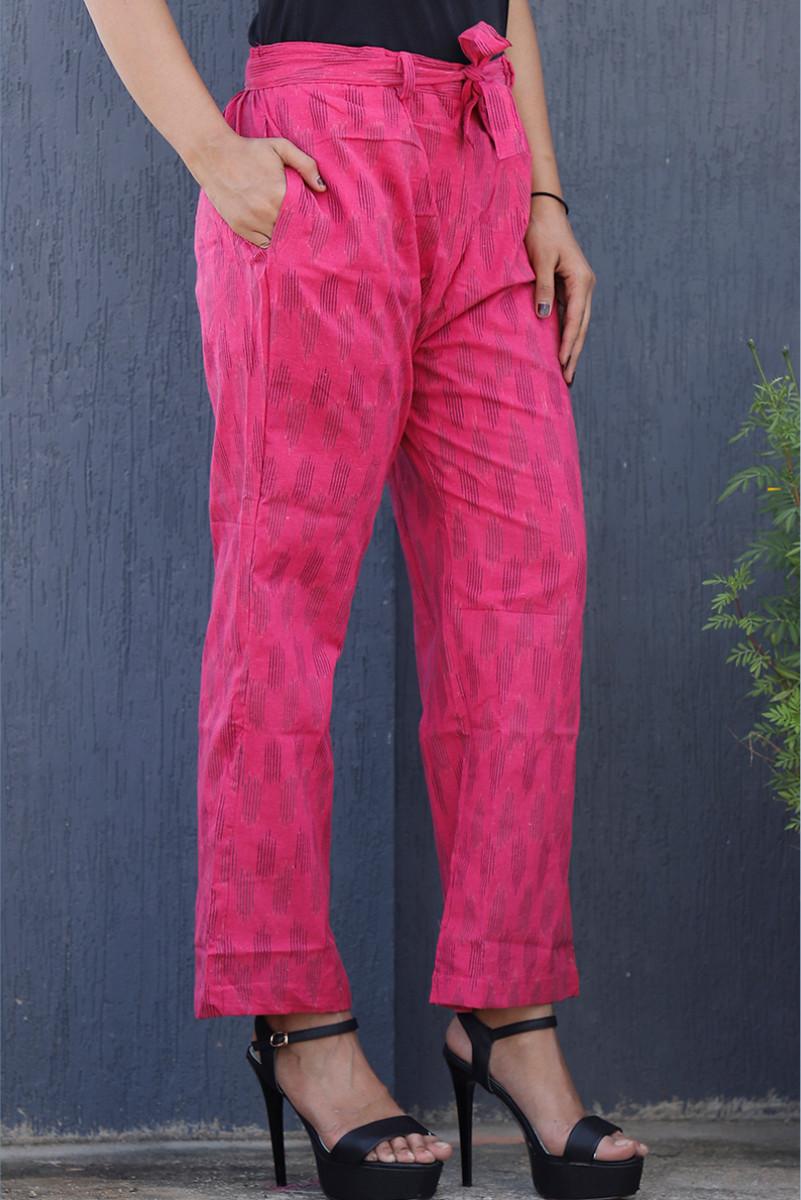 /home/customer/www/fabartcraft.com/public_html/uploadshttps://www.shopolics.com/uploads/images/medium/Pink-Black-Cotton-Ikat-zig-zag-Narrow-Pant-34040.JPG
