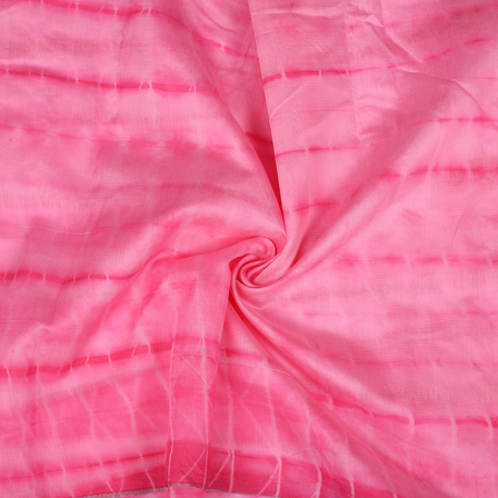 Pink Chanderi Silk Fabric-9038