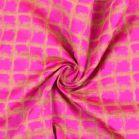 Pink Golden Jacquard Cotton Fabric-9010