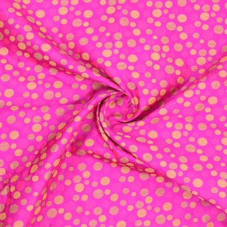 Pink Golden Jacquard Cotton Fabric-9017