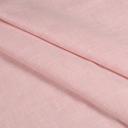 Pink Cotton Linen Shirt Fabric-90049