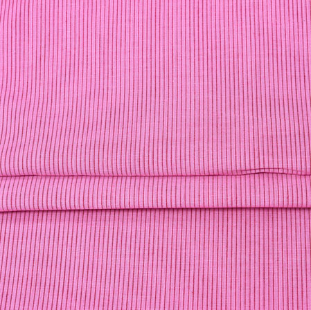 Pink Pink Stripe Handloom Fabric-42011