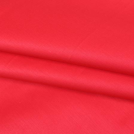 Pink Plain Cotton Silk Fabric-16441