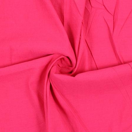 Pink Plain Handloom Cotton Fabric-40430
