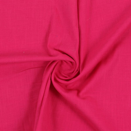 Pink Plain Handloom Khadi Cotton Fabric-40491