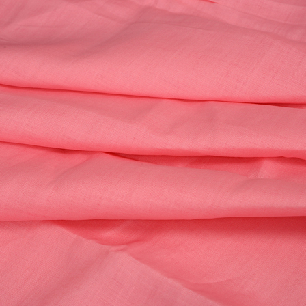 Linen Shirt (1.6 Meter) Fabric- Pink Plain Indian-90016