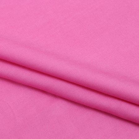 Rayon Shirt (2.25 Meter)-Pink Plain Rayon Fabric-40691