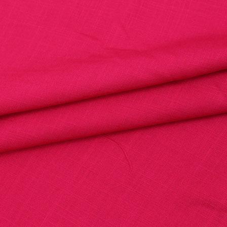 Rayon Shirt (2.25 Meter)-Pink Plain Khadi Rayon Fabric-40701