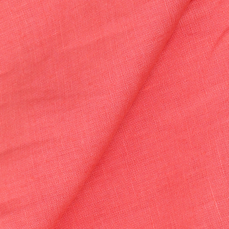 Linen Shirt (1.6 Meter) Fabric- Pink Plain-90029