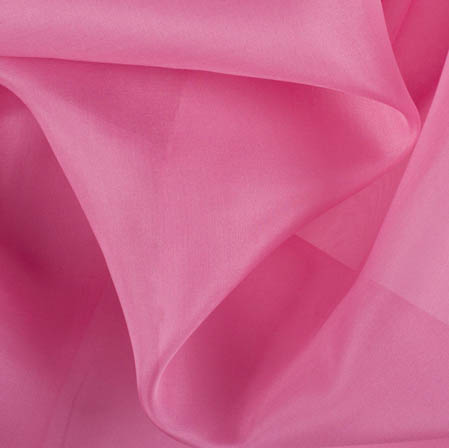 Pink Plain Organza Silk Fabric-51800