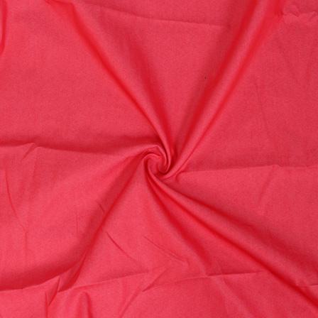 Pink Poly Denim Handloom Cotton Fabric-40110