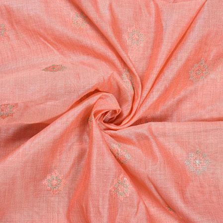 Pink Silver star Burbari Big Embroidery Fabric-28284