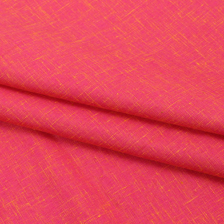 Pink Two tone Linen Cotton Fabric-40646