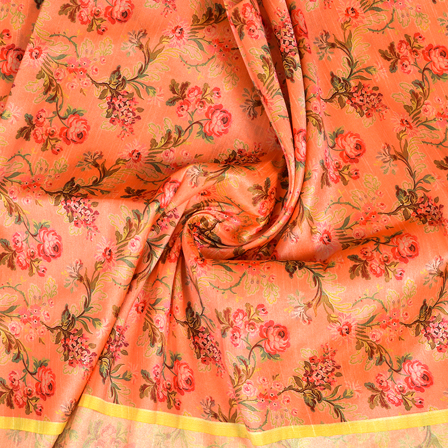 Pink-and-Green-Flower-Pattern-Digital-Print-Silk-Fabric-24045