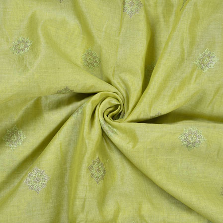 PistaGreen Silver star Burbari Big Embroidery Fabric-28285