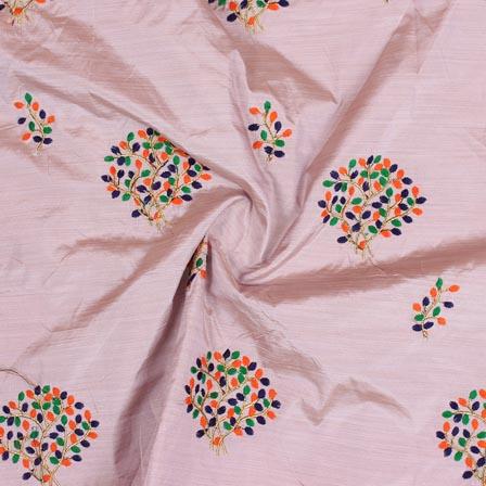 Purple Orange and Golden Bamboo Embroidery Silk Fabric-61007
